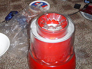 An ice cream maker. (Photo credit: Wikipedia)