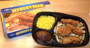 A Swanson &quot;Hungry-Man&quot; TV dinner, co...